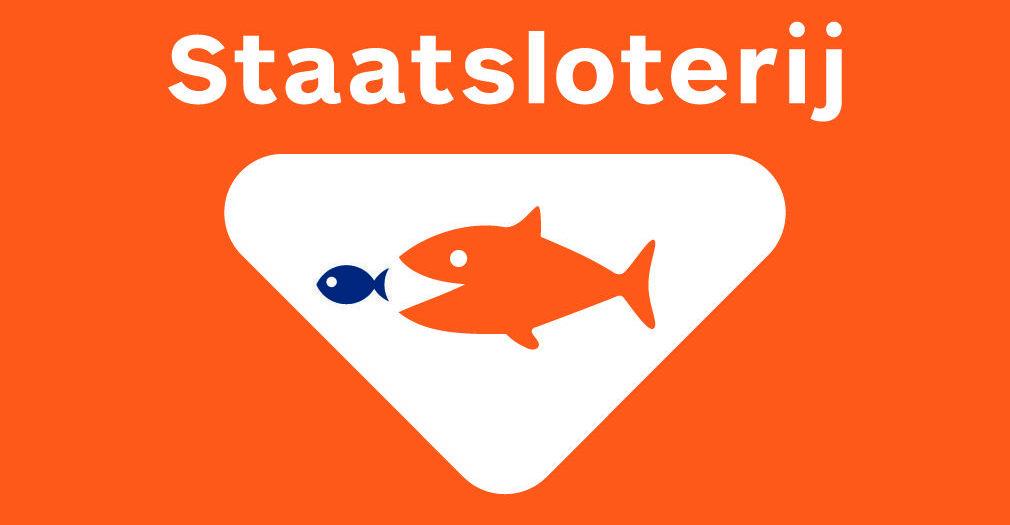 Logo van Staatsloterij: niet aan meedoen volgens de tekstschrijvers. Illustratie bij artikel column laten schrijven.