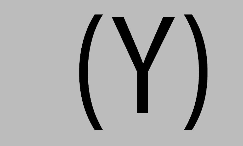 Haakje openen een Y en haakje sluiten, door tekstschrijver Jacob op de pagina vorm en inhoud van de tekstschrijvers