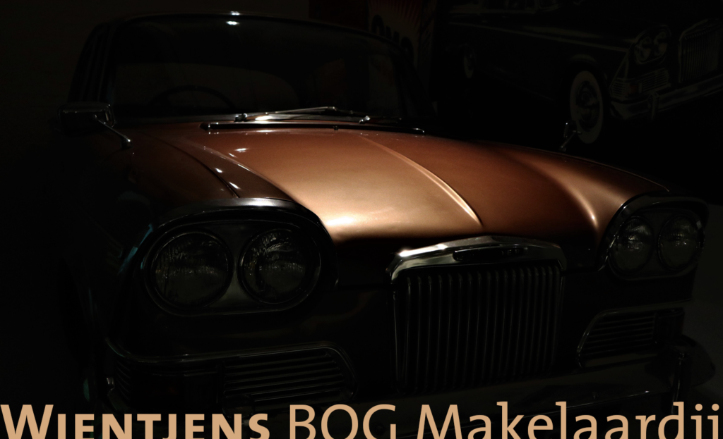 Detail van een zichtbaar dure auto, ter illustratie van een zakelijke tekst van de tekstschrijvers